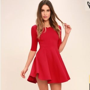 Lulus Tip the Scallops Red Dress Sz: XS